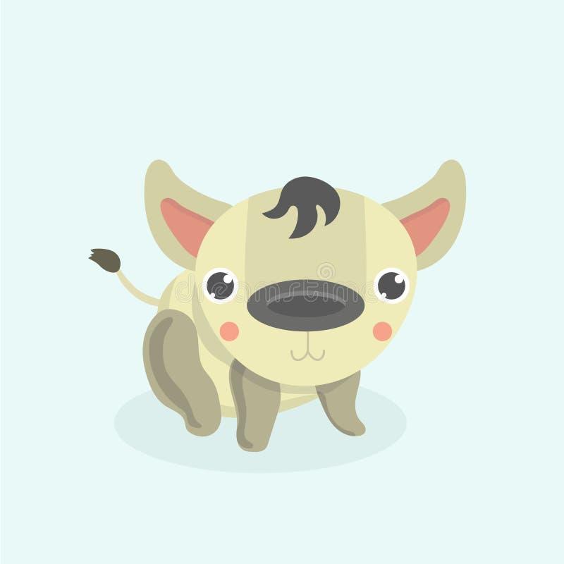 Rolig hyena för tecknad film vektor illustrationer
