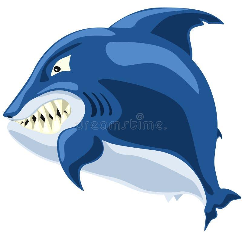 Ilsken haj royaltyfri illustrationer