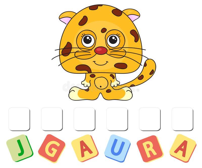 Rolig jaguar för tecknad film vektor illustrationer