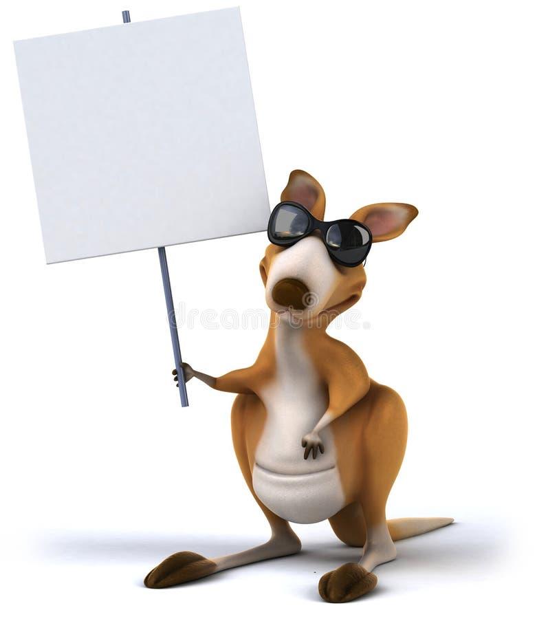 Rolig känguru royaltyfri illustrationer