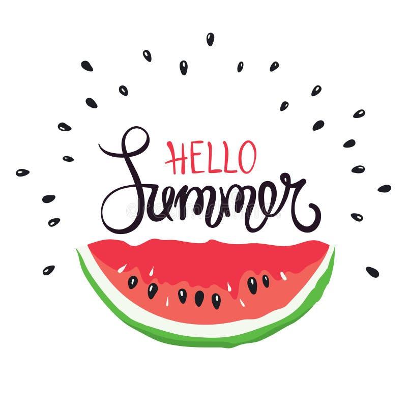 Rolig kalligrafi för sommarhandteckning stock illustrationer