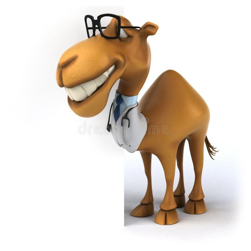 Rolig kamel stock illustrationer