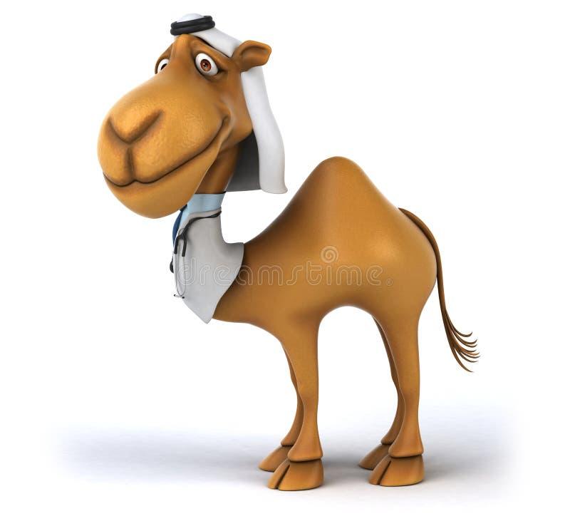 Rolig kamel vektor illustrationer
