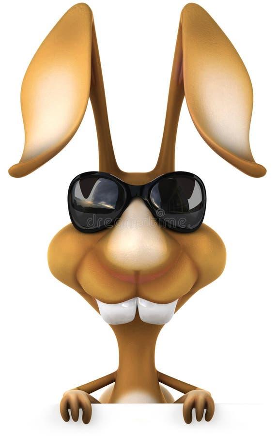 Rolig kanin vektor illustrationer