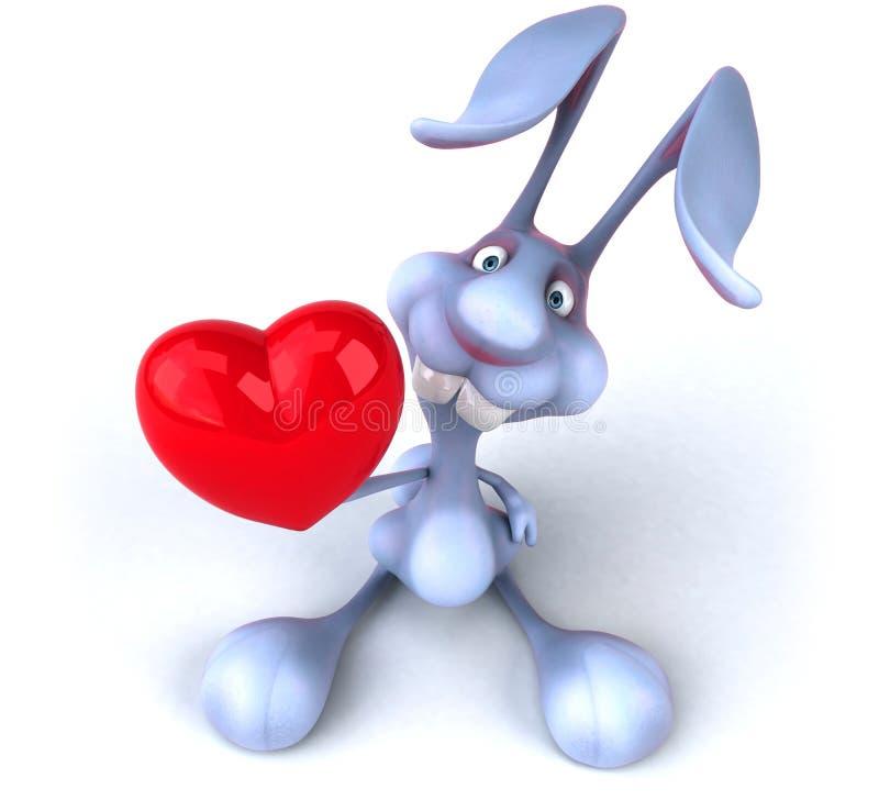 Rolig kanin royaltyfri illustrationer