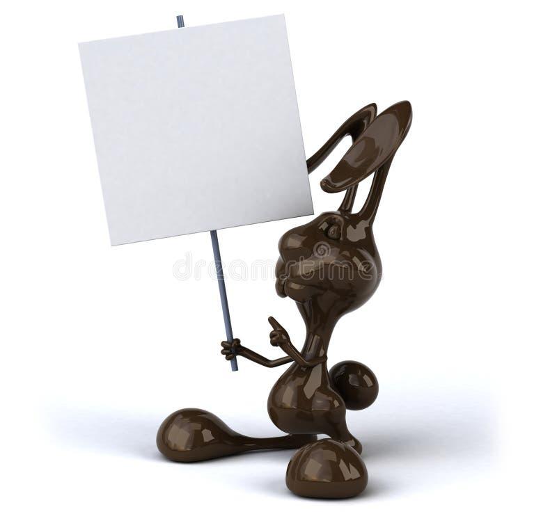 rolig kanin för färgkontur stock illustrationer