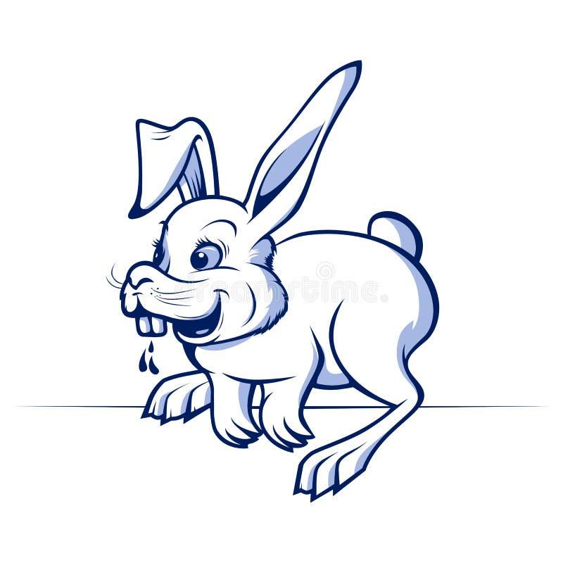 rolig kanin för tecknad film royaltyfri illustrationer