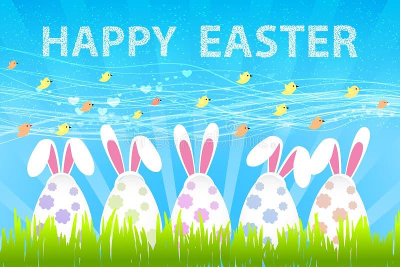 Rolig kanin kanin easter vektor illustrationer