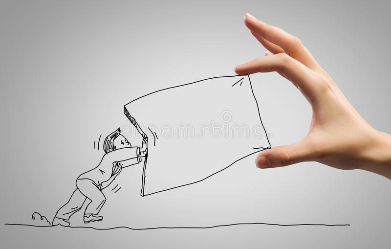 Rolig karikatyr stock illustrationer