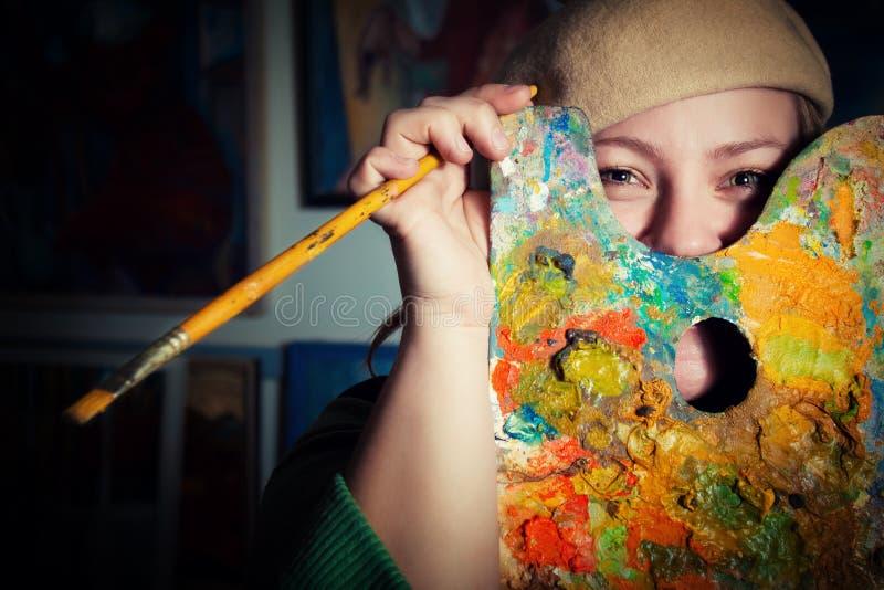 Rolig konstnär royaltyfria bilder