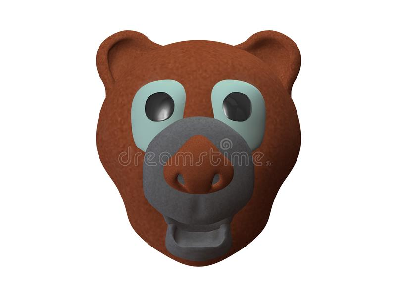 Rolig leksak för nallebjörn för ungar stock illustrationer