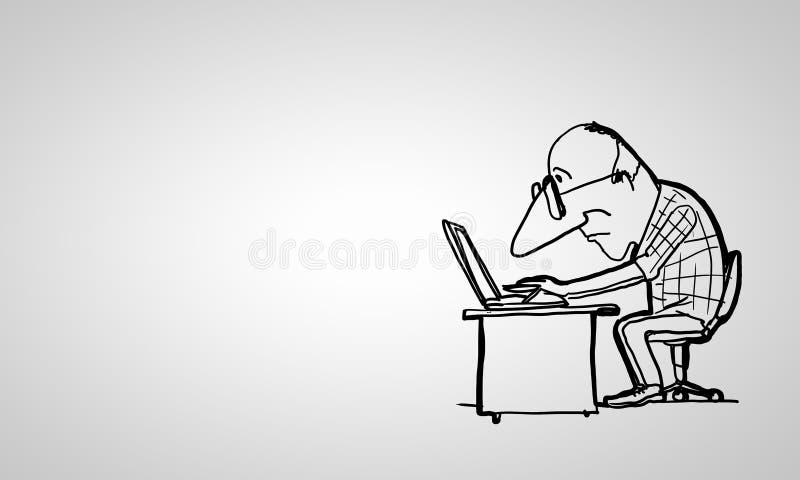 Rolig man för tecknad film royaltyfri illustrationer