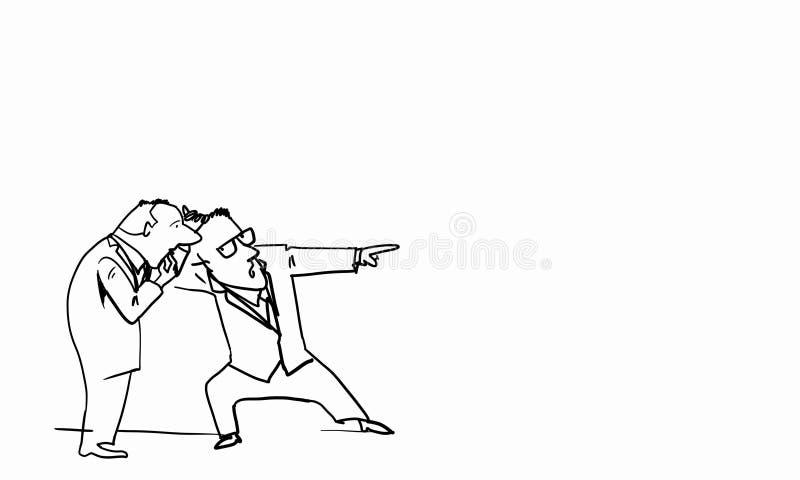 Rolig man för tecknad film stock illustrationer