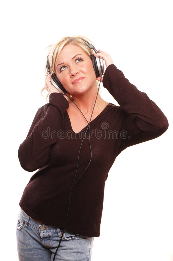 rolig musik royaltyfri foto