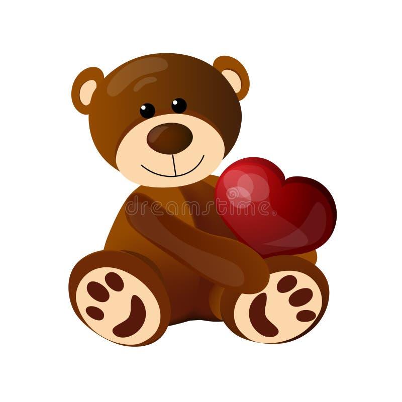 Rolig nallebjörn som sitter på golvet arkivfoto