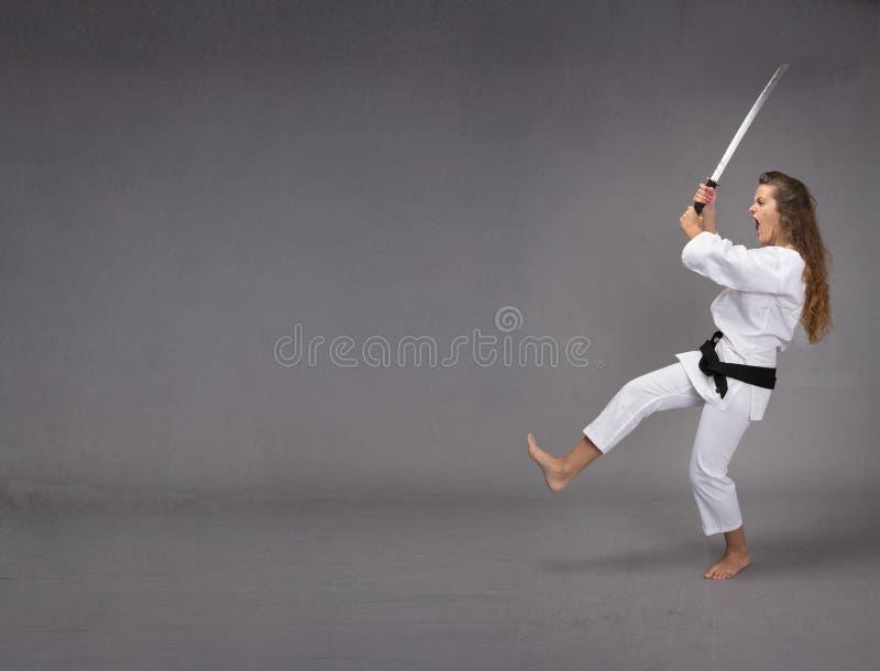 Rolig ninjaattack royaltyfria bilder