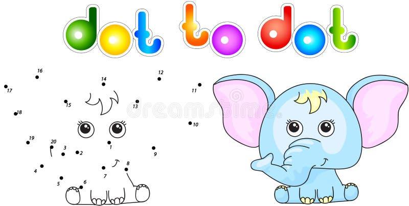 Rolig och gullig elefant stock illustrationer