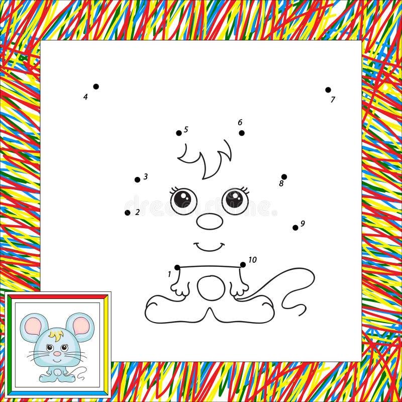 Rolig och gullig mus royaltyfri illustrationer