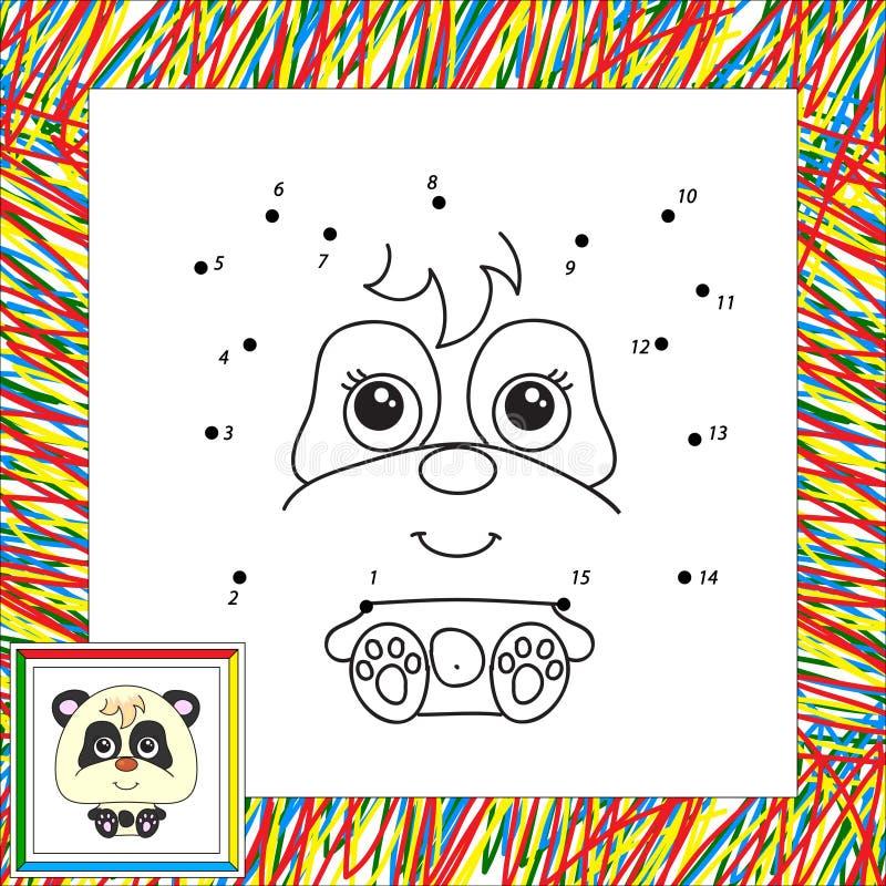 Rolig och gullig panda royaltyfri illustrationer