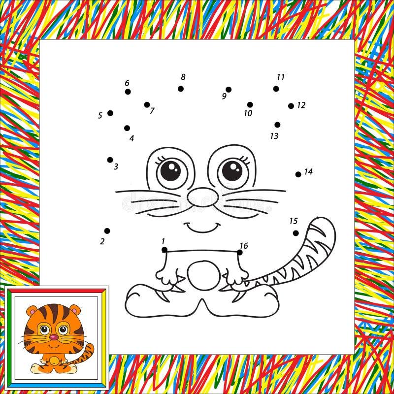 Rolig och gullig tiger stock illustrationer