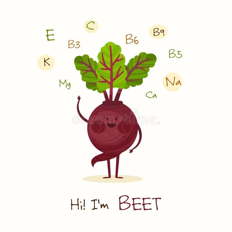 Rolig och sund mat vektor illustrationer