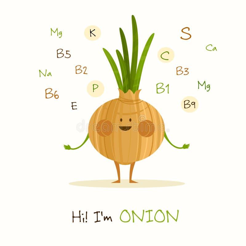 Rolig och sund mat stock illustrationer