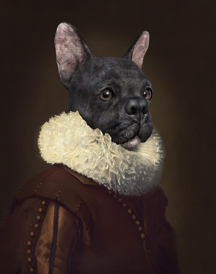 Rolig overklig hund, olje- målning royaltyfria bilder