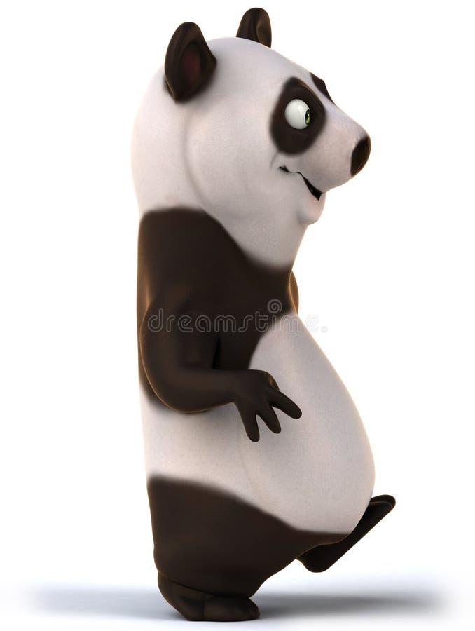 Rolig panda stock illustrationer