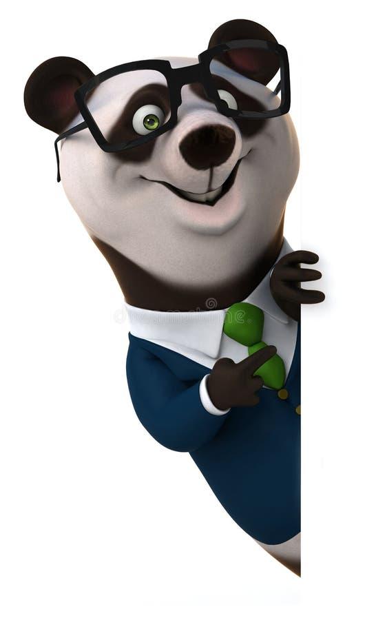 Rolig panda vektor illustrationer