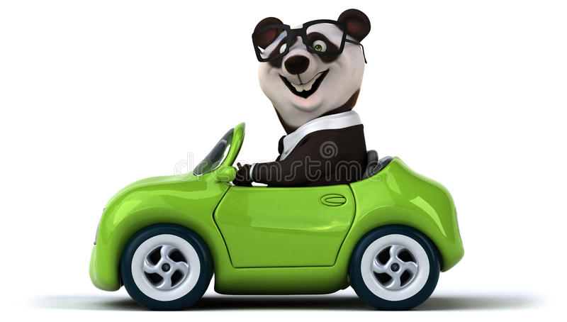 Rolig panda royaltyfri illustrationer