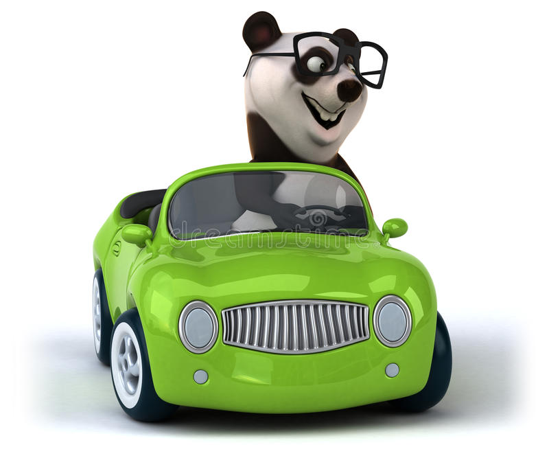 Rolig panda stock illustrationer