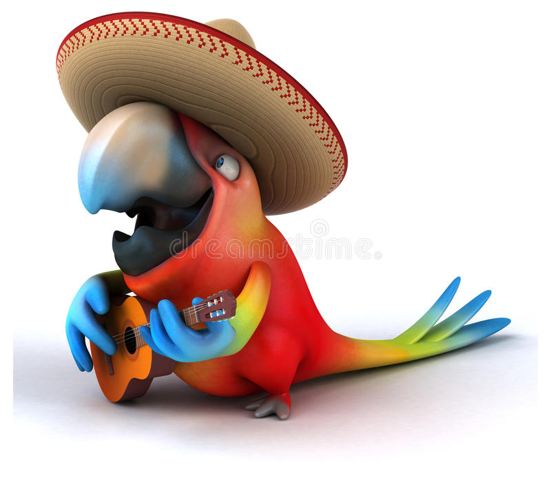 Rolig papegoja stock illustrationer