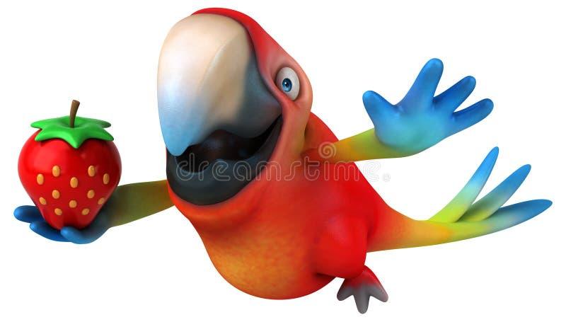 Rolig papegoja royaltyfri illustrationer