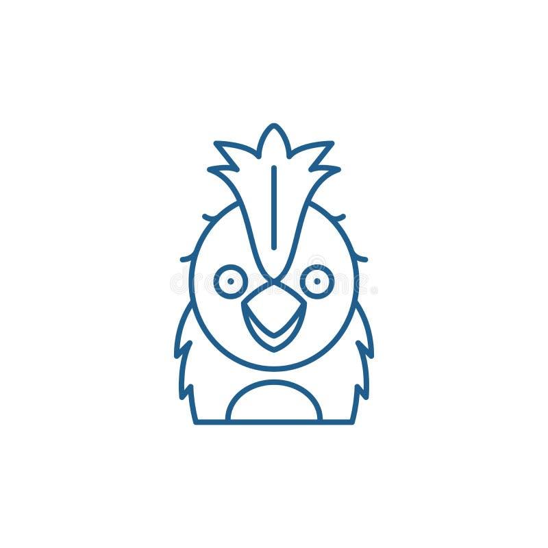 Rolig papegojalinje symbolsbegrepp Plant vektorsymbol f?r rolig papegoja, tecken, ?versiktsillustration vektor illustrationer