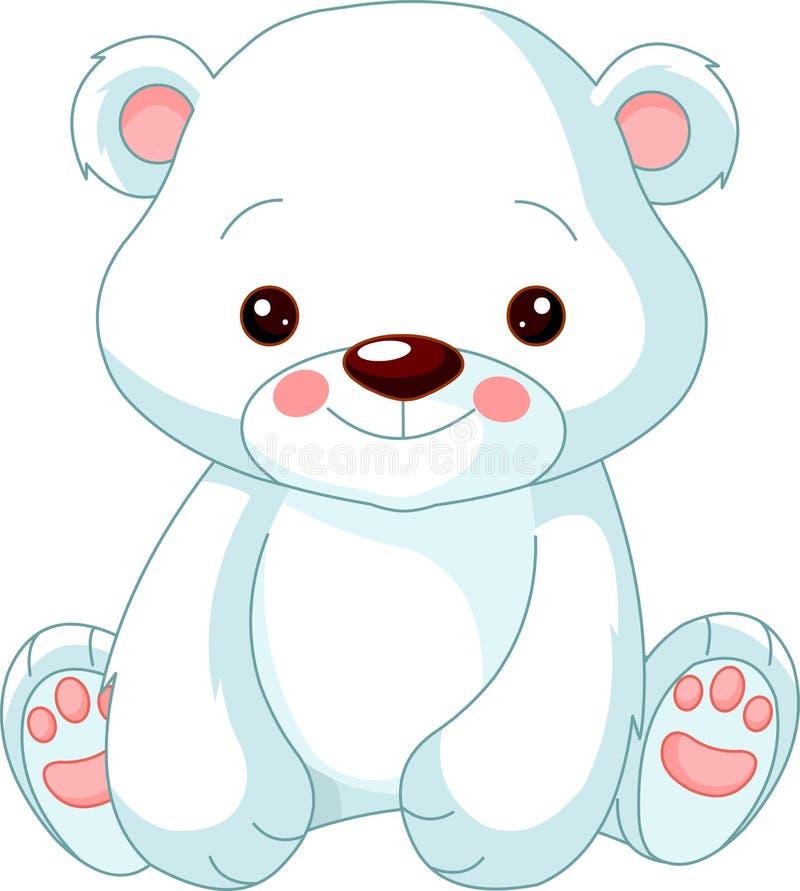 rolig polar zoo för björn stock illustrationer