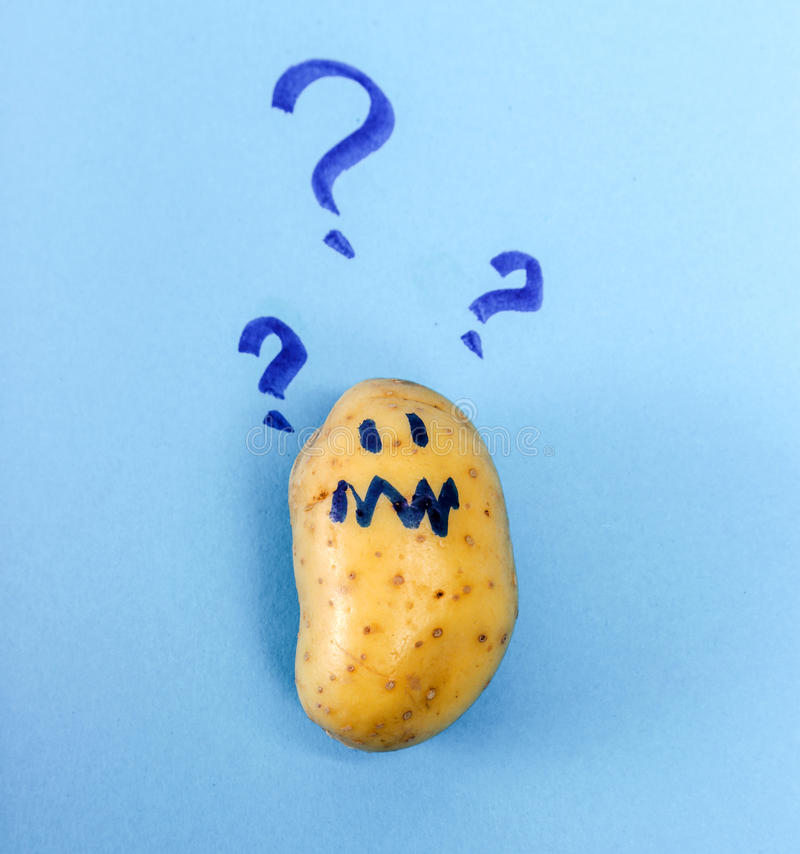 rolig potatis royaltyfri foto