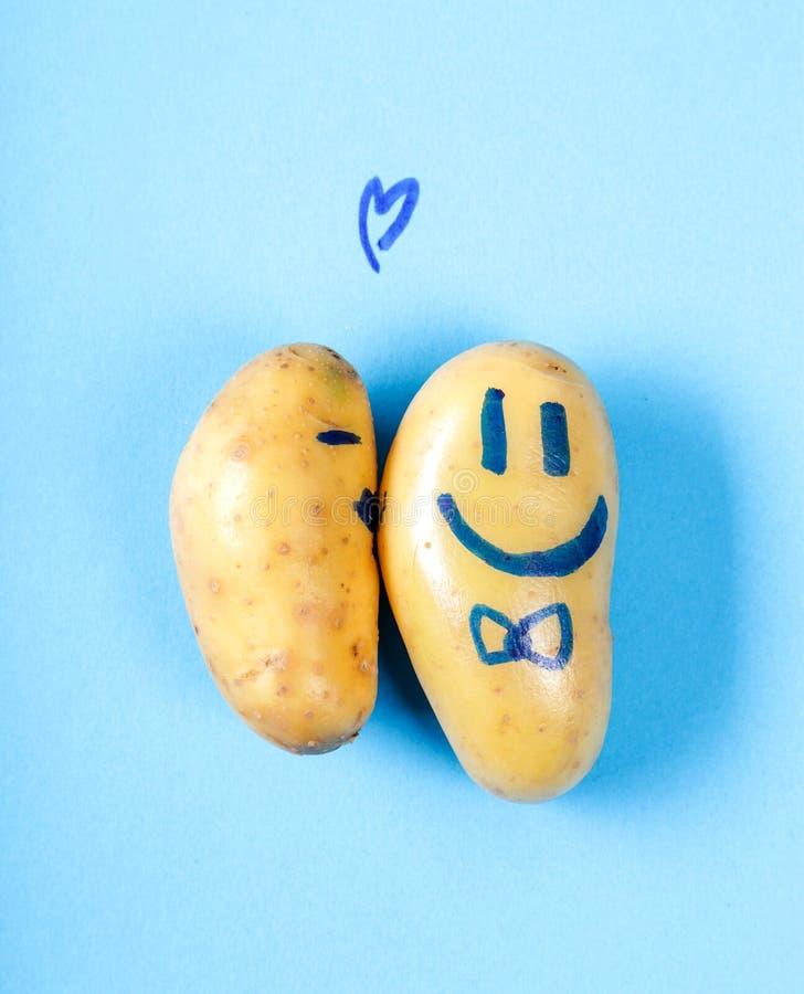 rolig potatis royaltyfri bild