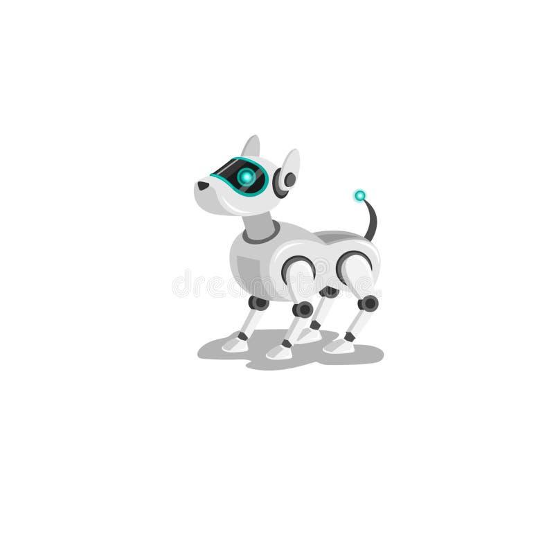 Rolig rödhårig manwelsh hund som isoleras , illustrationer royaltyfri illustrationer