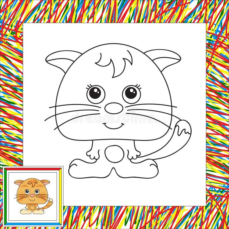 rolig red för katt stock illustrationer