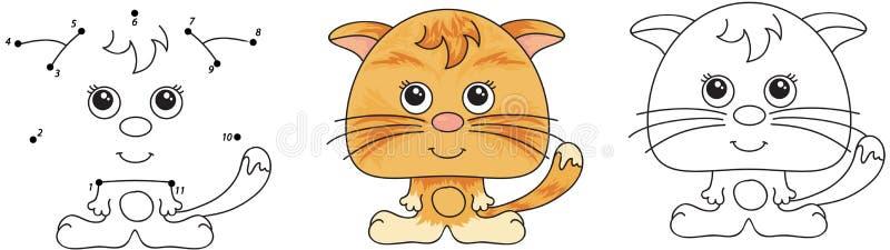 rolig red för katt vektor illustrationer