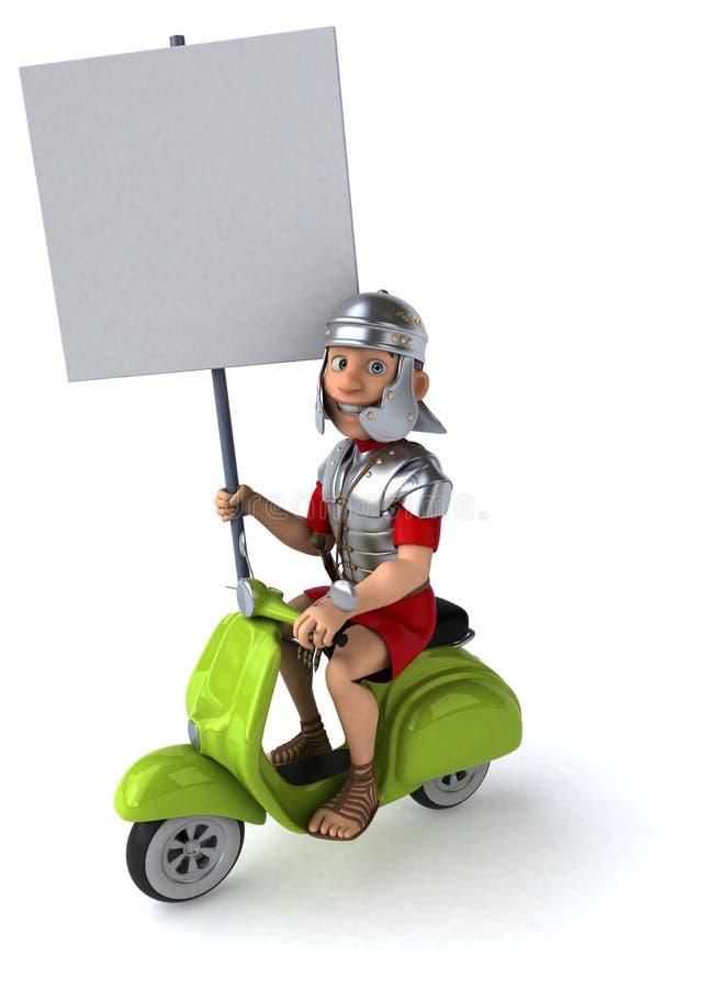 Rolig roman soldat stock illustrationer