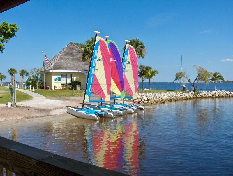 Rolig Sailboating aktivitet ClubMed fotografering för bildbyråer