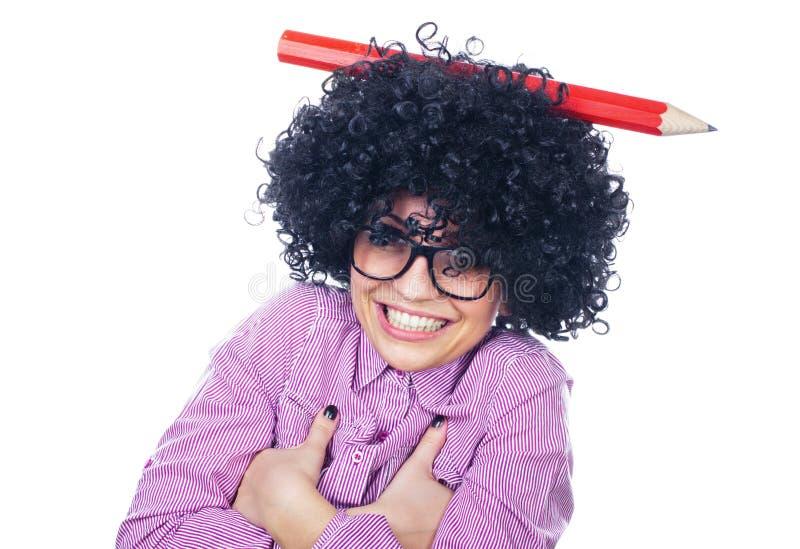 Download Rolig schoolgirl med fotografering för bildbyråer. Bild av kvinnlig - 27285469