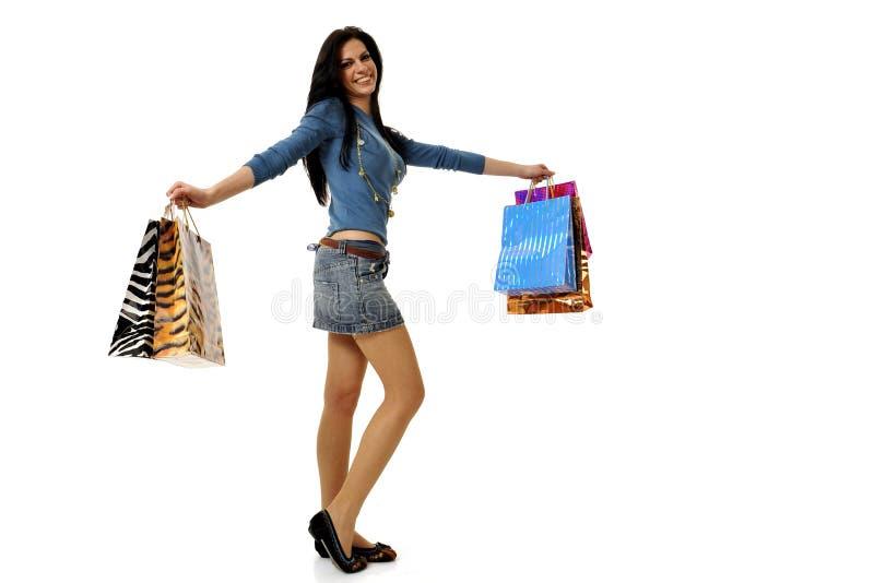 rolig shopping royaltyfria foton