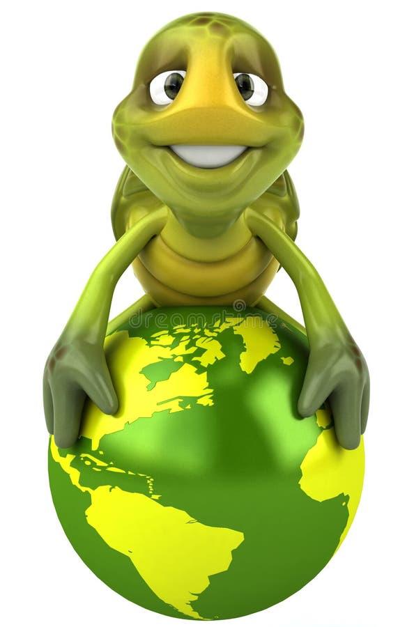 rolig sköldpaddavärld stock illustrationer