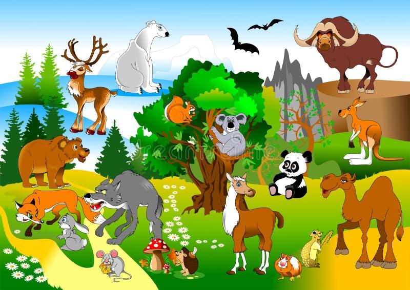 Rolig skog royaltyfri illustrationer