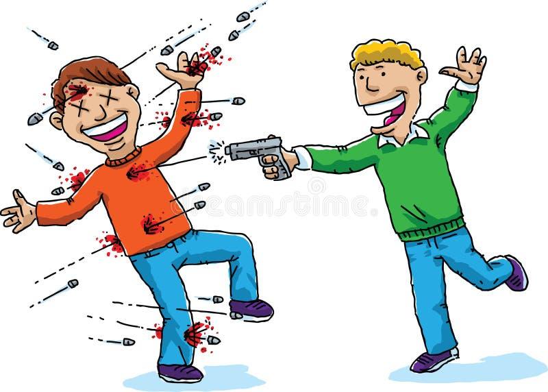 Rolig skytte stock illustrationer