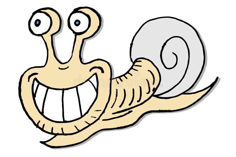 rolig snail vektor illustrationer