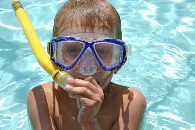 rolig snorkel royaltyfria foton