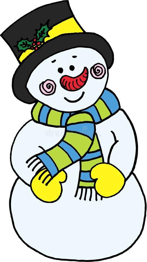 rolig snowman stock illustrationer